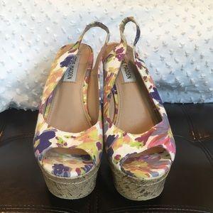 Steve Madden Floral Chunky High Heels